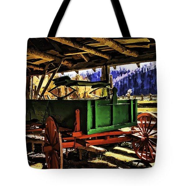 Tote Bag featuring the painting Barn by Muhie Kanawati
