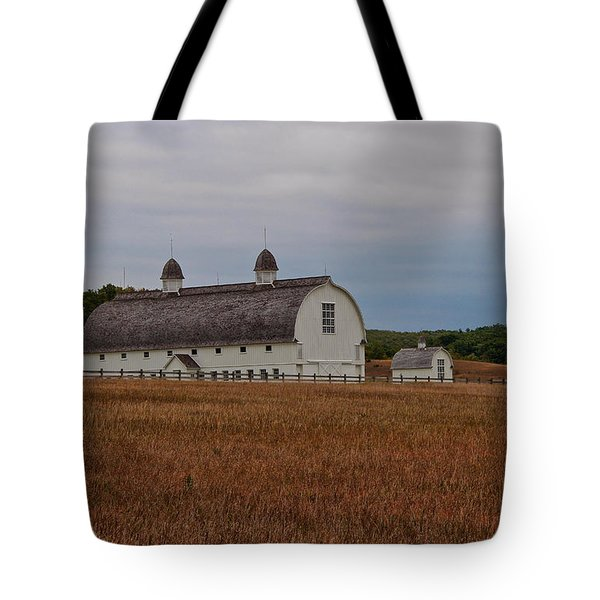 Barn On A Windy Day Tote Bag