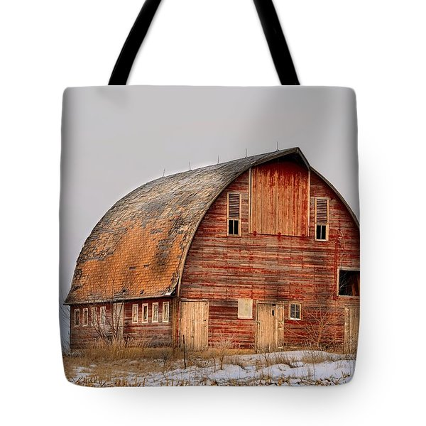Barn On The Hill Tote Bag by Bonfire Photography