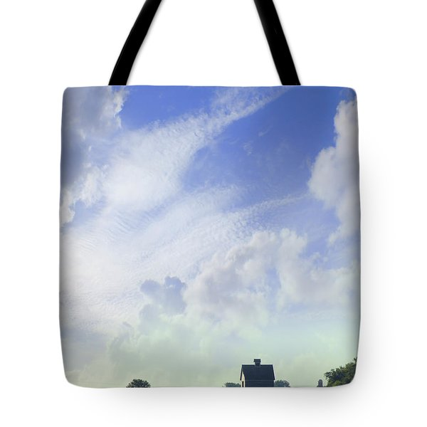 Barn On Top Of The Hill Tote Bag by Mike McGlothlen