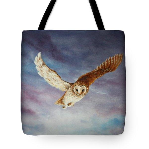 Barn Owl Tote Bag by Jean Walker
