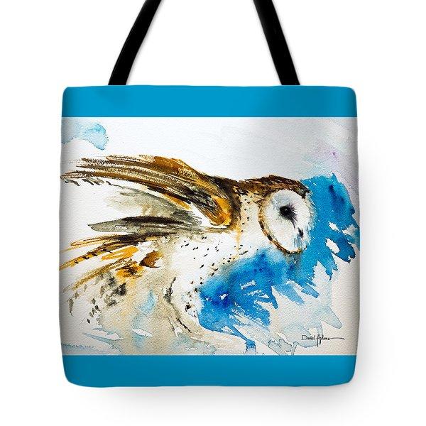 Da145 Barn Owl Ruffled Daniel Adams Tote Bag