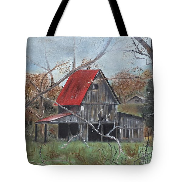 Barn - Red Roof - Autumn Tote Bag by Jan Dappen