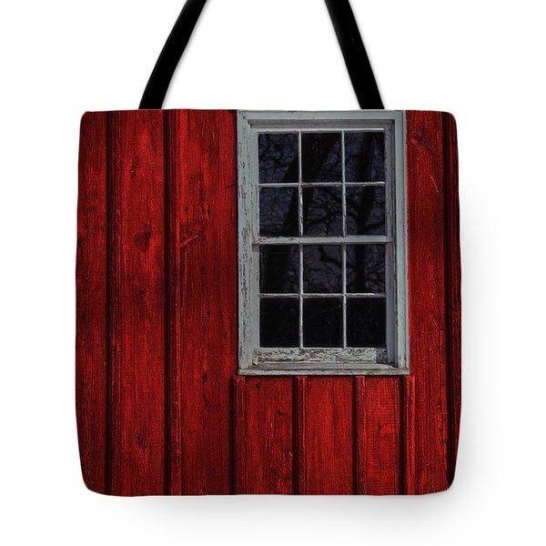 Tote Bag featuring the photograph Barn Window by Debra Fedchin