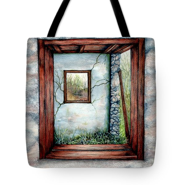 Barn Window Peering Through Time Tote Bag
