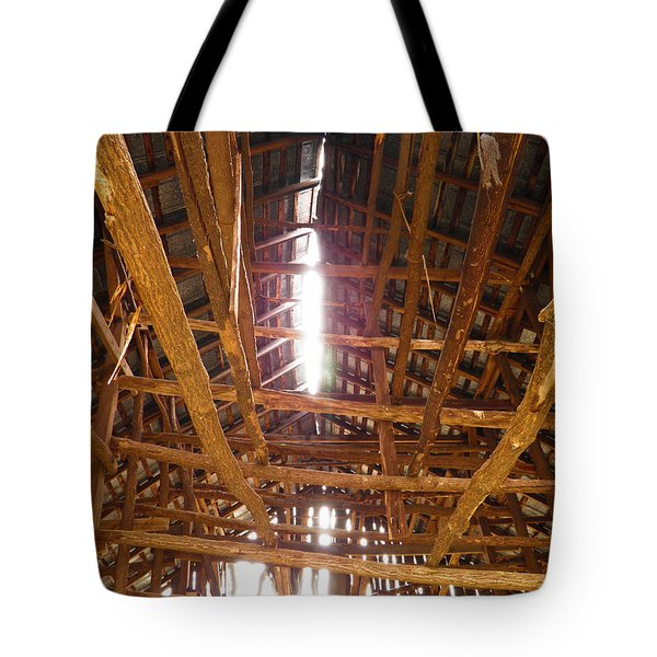 Tote Bag featuring the photograph Barn With A Skylight by Nick Kirby