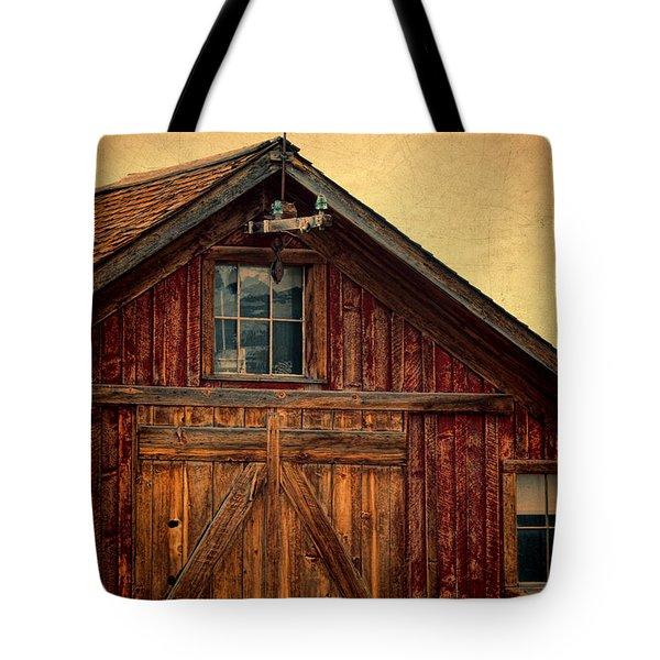 Barn With Weathervane Tote Bag by Jill Battaglia