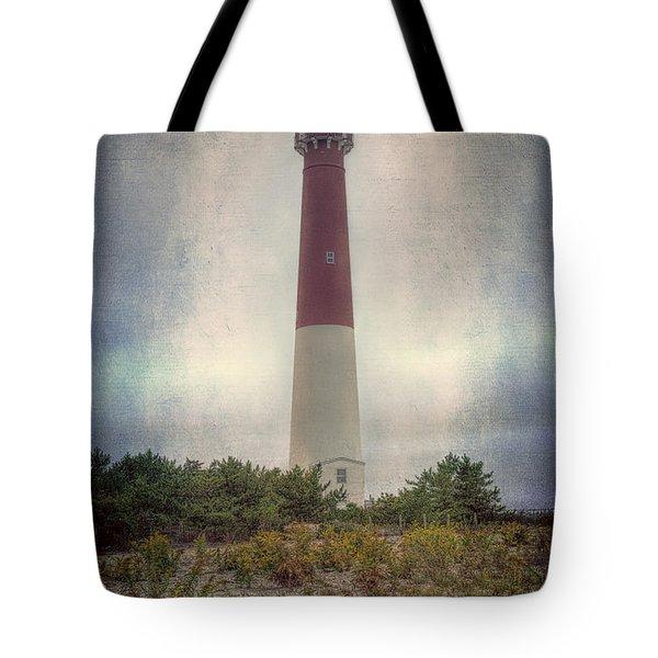 Barnegat Lighthouse Dawn Tote Bag by Joan Carroll