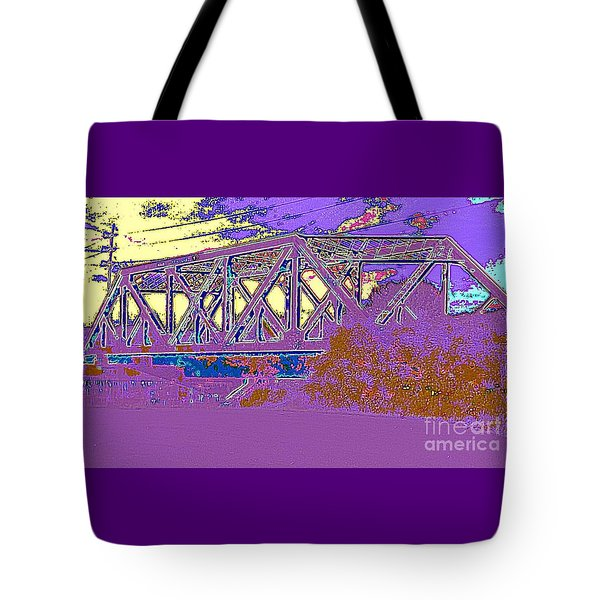 Tote Bag featuring the photograph Barnes Ave Erie Canal Bridge by Peter Gumaer Ogden