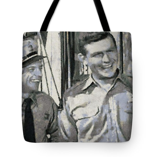 Barney Fife And Andy Taylor Tote Bag by Paulette B Wright