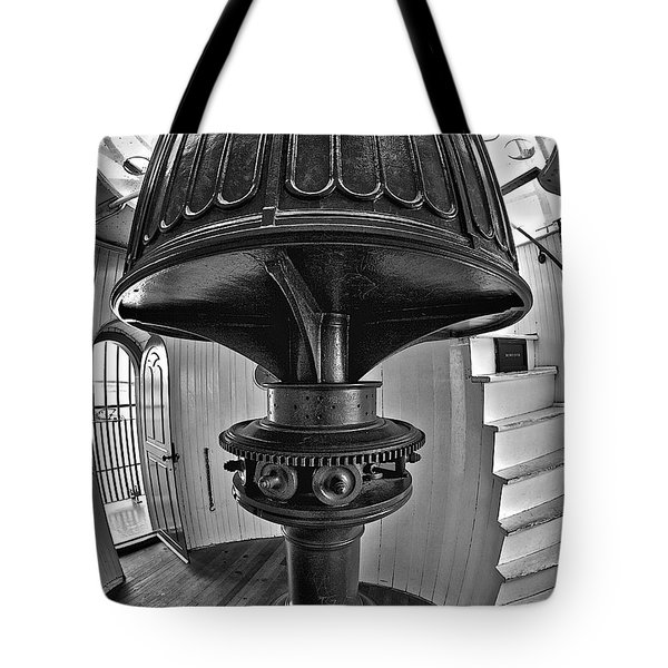 Barney's Gears In Black And White Tote Bag