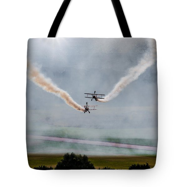 Tote Bag featuring the photograph Barnstormer Late Afternoon Smoking Session by Chris Lord