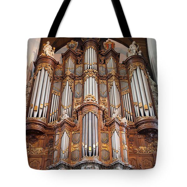 Baroque Grand Organ In Oude Kerk In Amsterdam Tote Bag