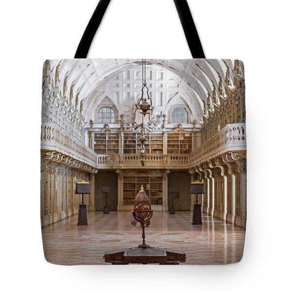 Baroque Library  Tote Bag by Jose Elias - Sofia Pereira
