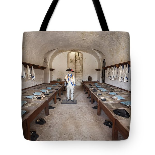 Tote Bag featuring the photograph Barracks At Fort San Cristobal by Bryan Mullennix