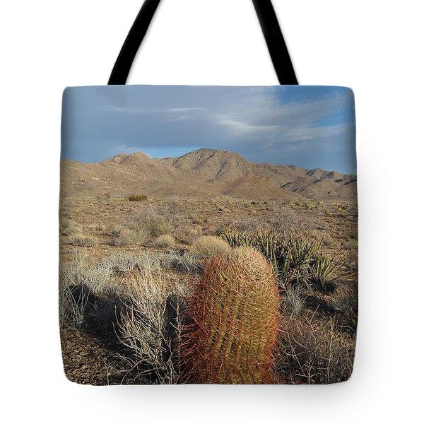Barrel Cactus In Winter Tote Bag