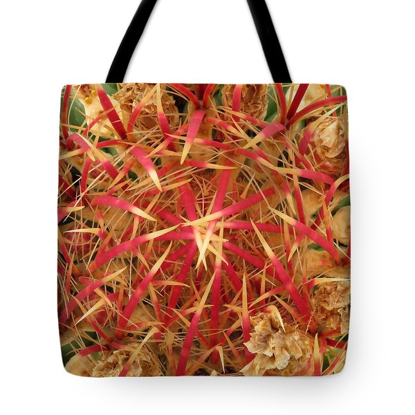 Tote Bag featuring the photograph Barrel Cactus by Laurel Powell