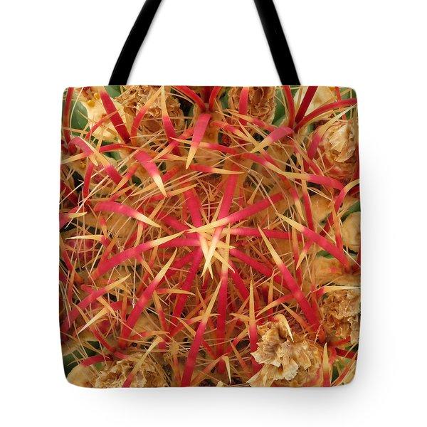 Barrel Cactus Tote Bag by Laurel Powell