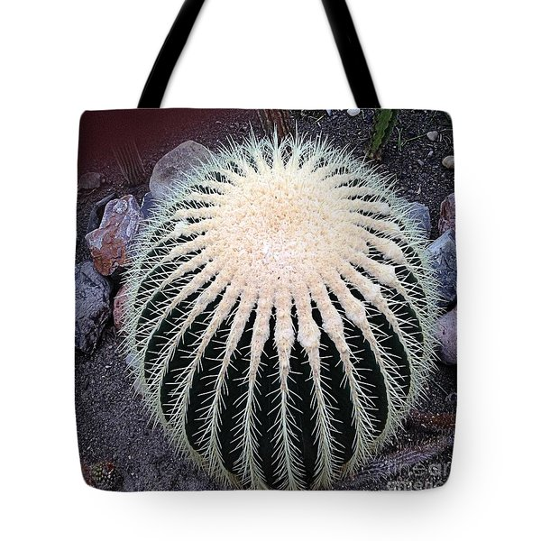 Tote Bag featuring the photograph Barrel Cactus by Luther Fine Art