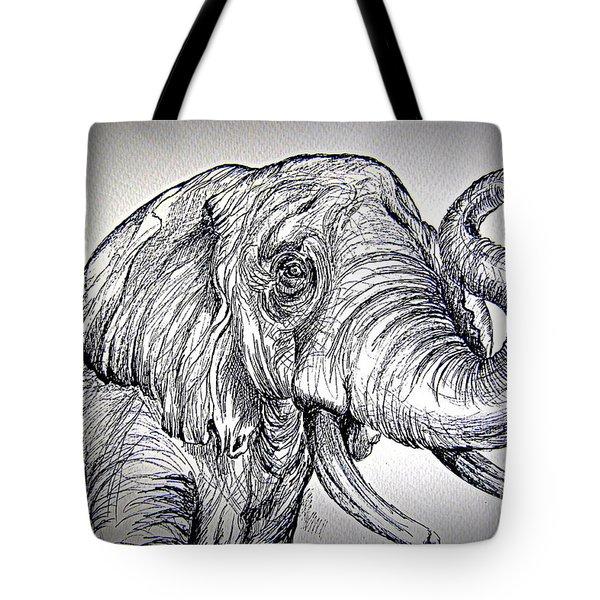 Tote Bag featuring the painting Barrito  Dell Elefante by Roberto Gagliardi