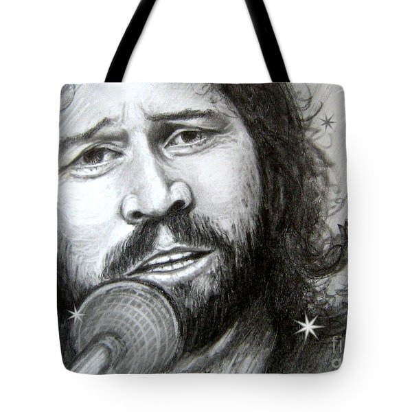 Tote Bag featuring the drawing Barry Gibb by Patrice Torrillo