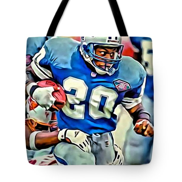 Barry Sanders Tote Bag