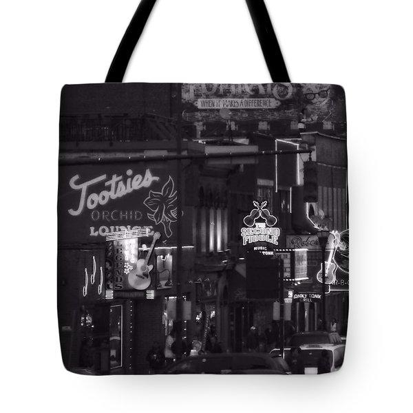 Bars On Broadway Nashville Tote Bag