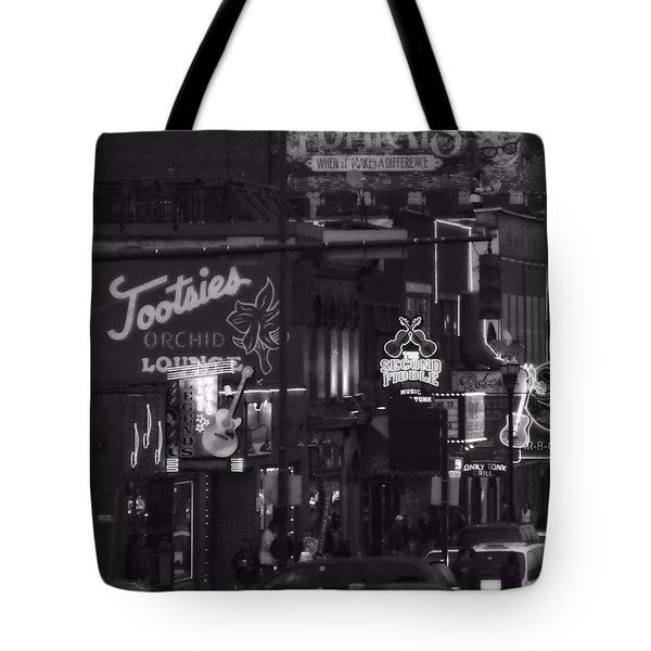 Bars On Broadway Nashville Tote Bag