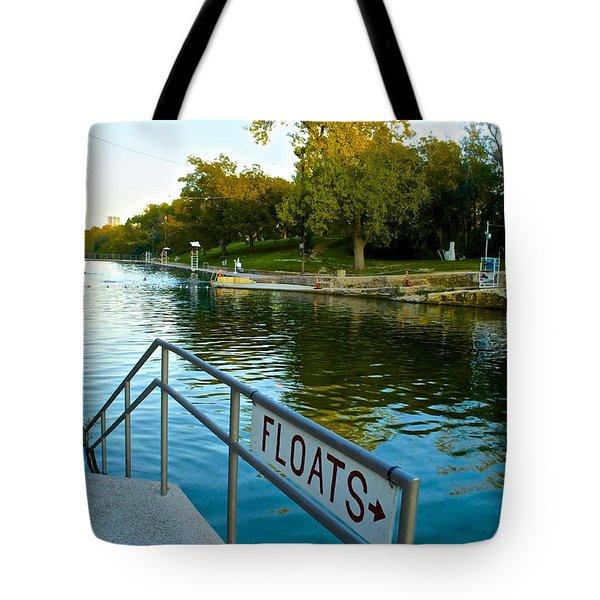 Barton Springs Pool In Austin Texas Tote Bag