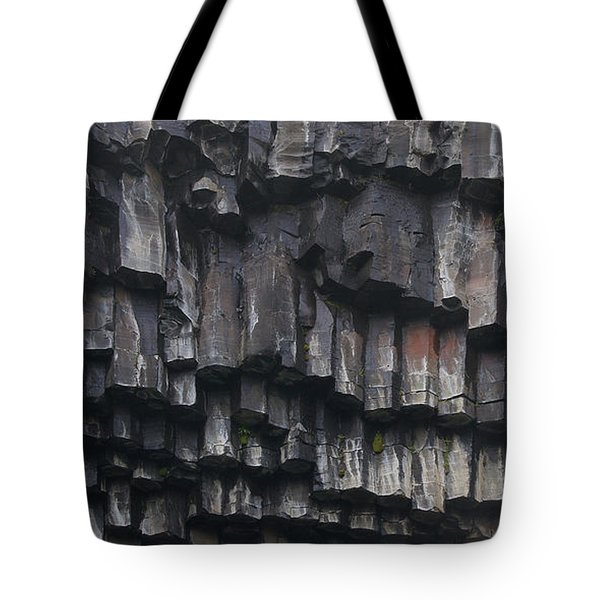 basaltic columns of Svartifoss Iceland Tote Bag by Rudi Prott