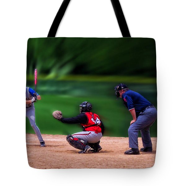 Baseball Batter Up Tote Bag by Thomas Woolworth