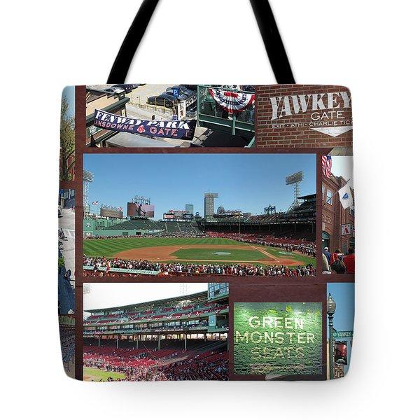 Baseball Collage Tote Bag by Barbara McDevitt