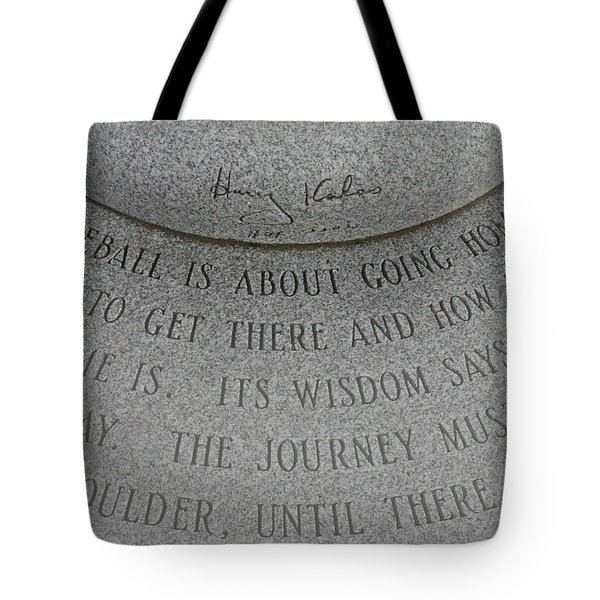 Baseball Is About Going Home Tote Bag by David Rucker