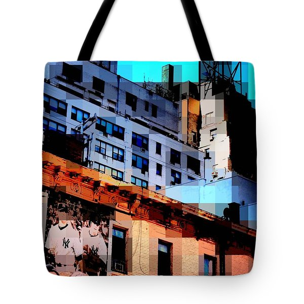 Baseball Is Coming - Watertower And Sports Poster Tote Bag by Miriam Danar