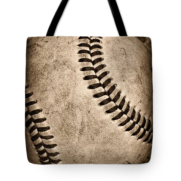 Baseball Old And Worn Tote Bag