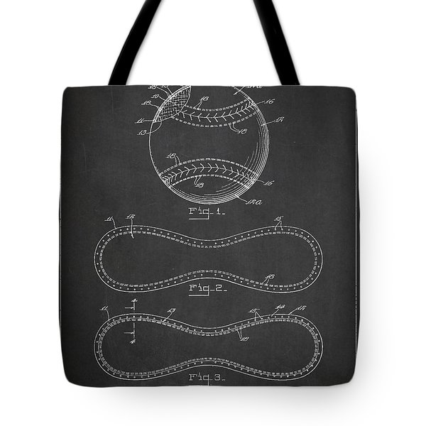 Baseball Patent Drawing From 1927 Tote Bag
