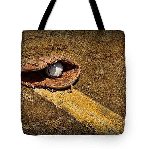 Baseball Pitchers Mound Tote Bag by Paul Ward