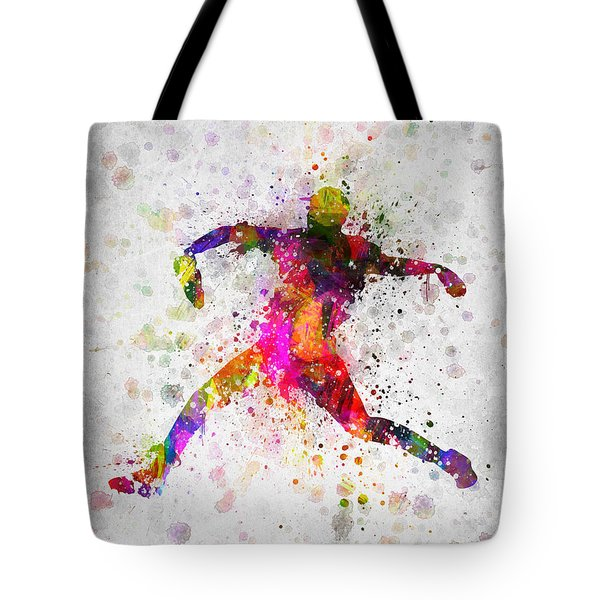 Baseball Player - Pitcher Tote Bag by Aged Pixel