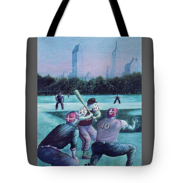 New York Central Park Baseball - Watercolor Art Tote Bag by Art America Gallery Peter Potter