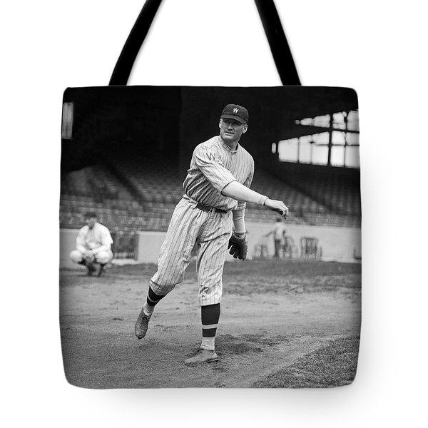 Baseball Star Walter Johnson Tote Bag