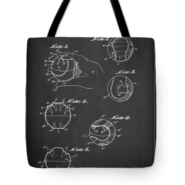 Baseball Training Device Patent Drawing From 1961 Tote Bag