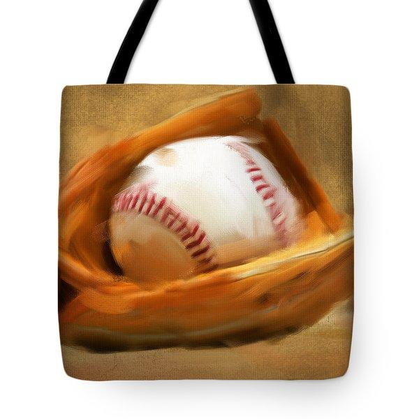 Baseball V Tote Bag by Lourry Legarde