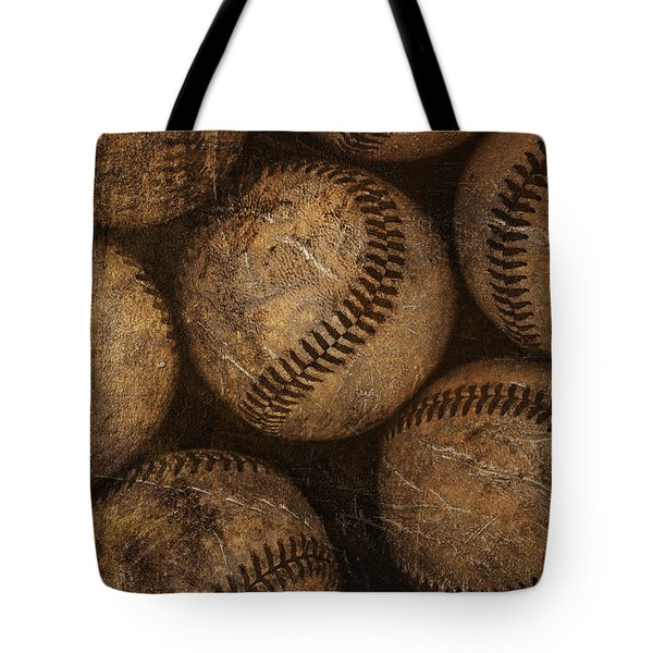 Baseballs Tote Bag by Diane Diederich