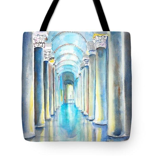 Basilica Cistern Istanbul Turkey Tote Bag