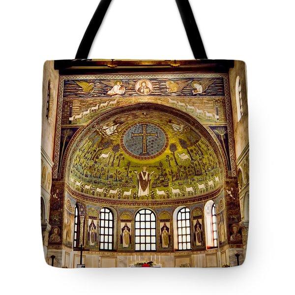 Basilica Di Sant'apollinare Nuovo - Ravenna Italy Tote Bag by Jon Berghoff