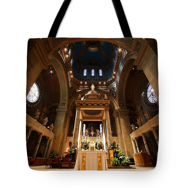 Basilica Of St Mary Minneapolis Minnesota Interior Tote Bag