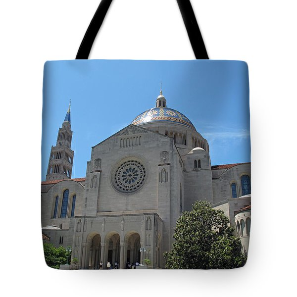 Basilica Of The National Shrine Tote Bag by Barbara McDevitt