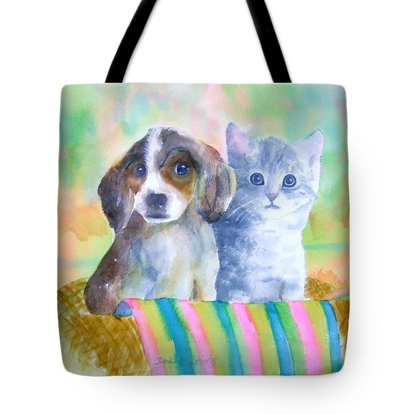 Tote Bag featuring the painting Basket Full Of Love by Debbie Lewis