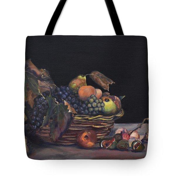 Basket Of Fruit Tote Bag by Donna Tuten