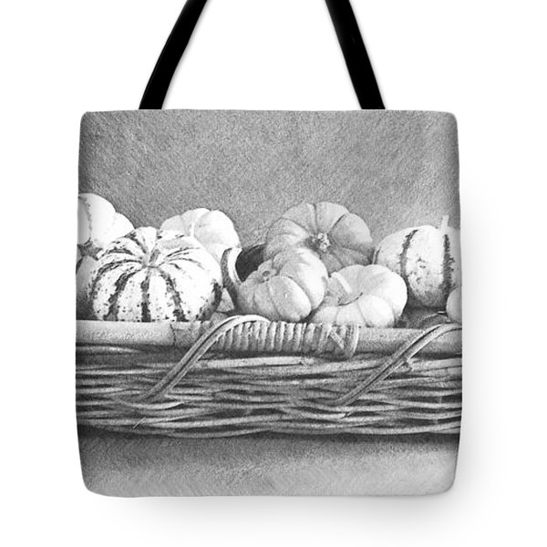 Basket Of Gourds Tote Bag